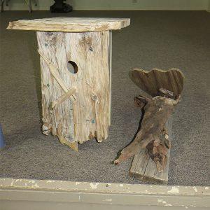 Driftwood birdhouses