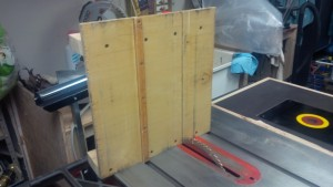 View of the base, showing the miter slider.