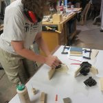 Gluing and clamping bookends