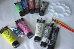 Supplies for colour wheel exploration