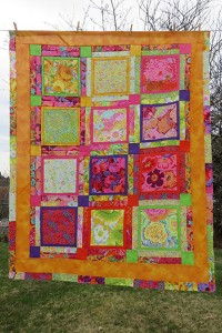 Finished lunch box challenge quilt
