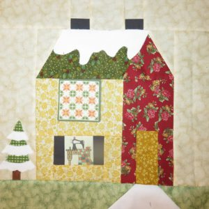 My one finished block, Holly's Quilt Room