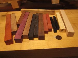 A selection of woods