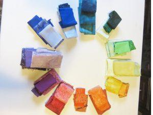 Selected fabrics for Colour Garden