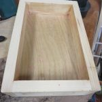 Top drawer after felt removed and top sanded.